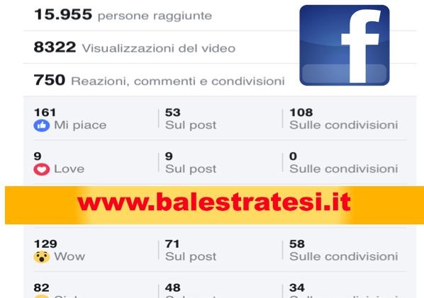 I numeri di Balestratesi su Facebook