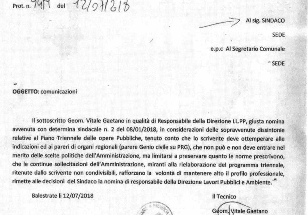 """ESCLUSIVA: """"Sollecitazioni sul dirigente per togliere il progetto a mare"""", così Vitale minacciò di dimettersi"""